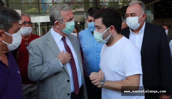 Mansur Yavaş'tan Başkan Böcek'e ziyaret