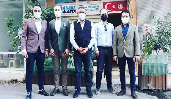 Ak Parti medya komisyonundan Manşet Alanya'ya ziyaret