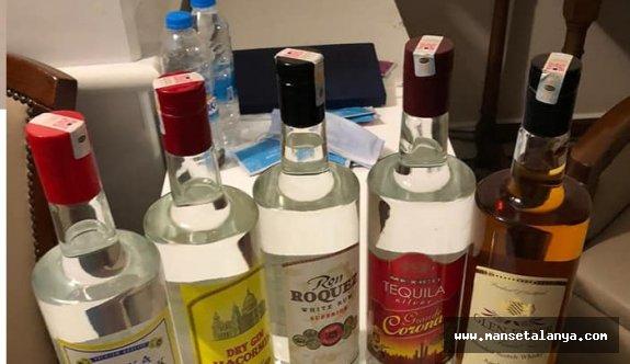 Alanya'da sahte ve kaçak içki ele geçirildi!