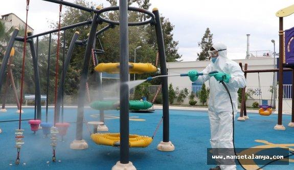 Park ve mesire alanları dezenfekte ediliyor!