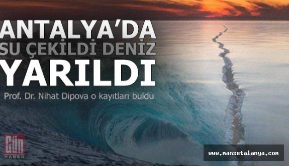 Antalya'daki tsunamiyi günlüğünde yazmış