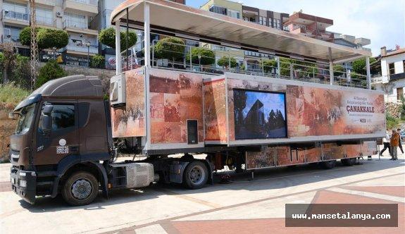 Çanakkale savaşları mobil müzesi Alanya'da!