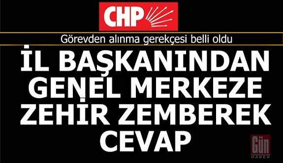 CHP'de il başkanının görevden alınma gerekçesi bakın neymiş?..