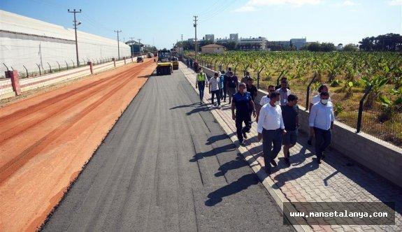 Avsallarda beton yol uygulaması start aldı