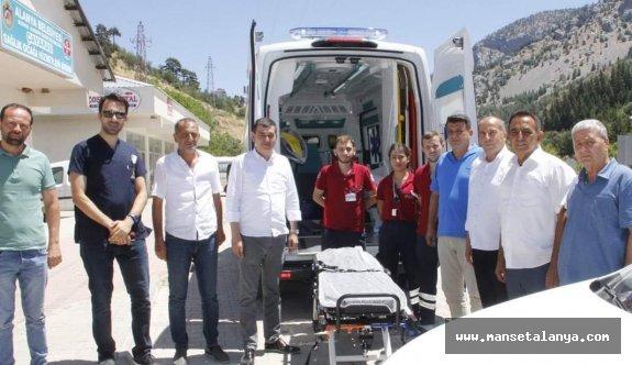 Alanya belediyesinin sağlık ocağına teşkilat ziyareti