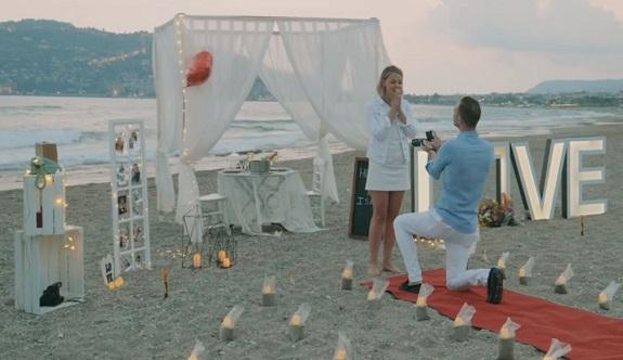 Alanya kale manzaralı evlilik teklifi