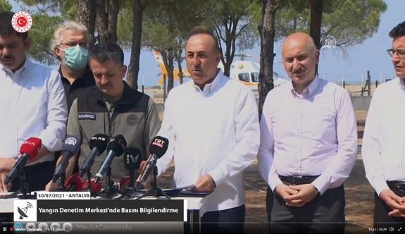 Bakan Çavuşoğlu: Yardım hesabı açıldı, milletimiz cömerttir