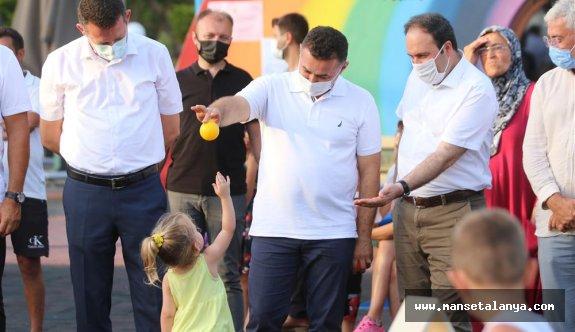 Güvenli parklar projesi çocukların hizmetine girdi