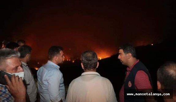 Gazipaşa Yeniköy de yangın!