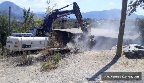 Gündoğmuşta 35 evin yıkımı gerçekleşti