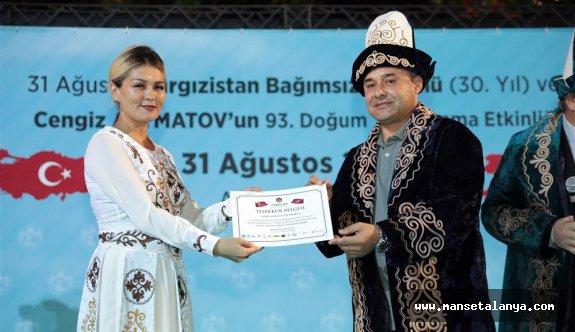 Alanya'da Kırgızistan'ın bağımsızlık günü kutlandı