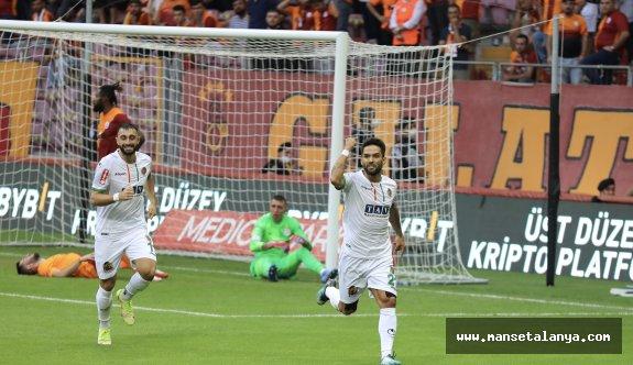 Alanyaspor Galatasaray karşısında 87. dakikada güldü!