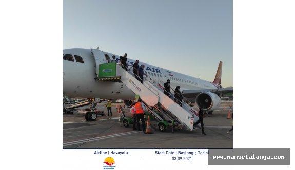 Tahran'dan ilk uçuş gerçekleşti