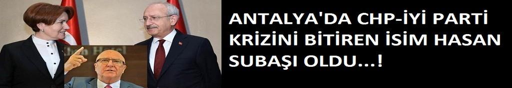 Antalya'da krizi Subaşı bitirdi...
