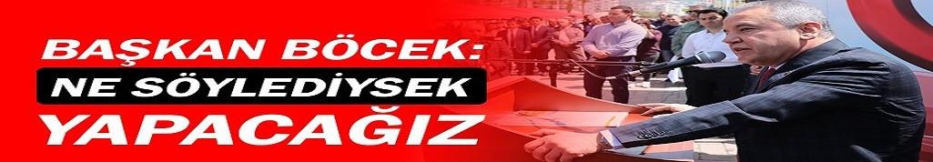 Antalya büyükşehir belediye başkanı Böcek, Gazipaşa'da!
