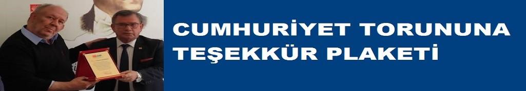 Mehmet Hacıkadiroğlu'na teşekkür plaketi