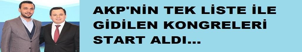 Tek liste ile ilgili gidilen AKP kongreleri başladı!