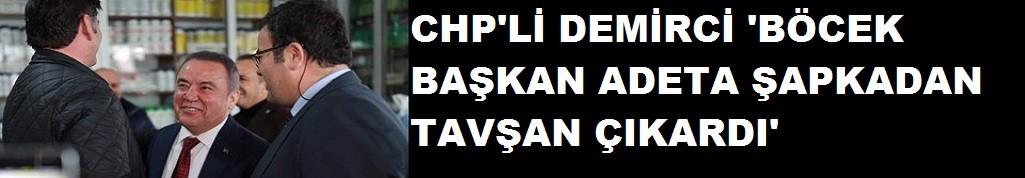 """CHP li Demirci"""" Böcek adeta şapkadan tavşan çıkarıyor"""""""