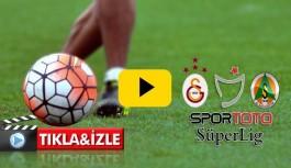 Alanyaspor-Galatasaray maç özeti