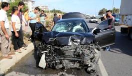 Bahçeli'nin Alanya dönüşündeki konvoyda kaza