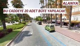 Büyükşehir'in Alanya Atatürk caddesine yapacağı büfeleri bakın hangi firma kiraladı