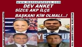Sizce Ak Parti Alanya İlçe Başkanı kim olmalı?
