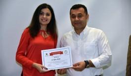 Aile danışmanları sertifikalarını aldı