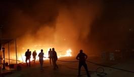 Alanya da turistik tesisi yanında yangın!