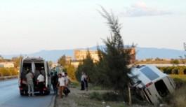 Alanyada tatil yapan Ruslar kaza geçirdi