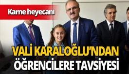 Antalya valisinden öğrencilere tavsiye