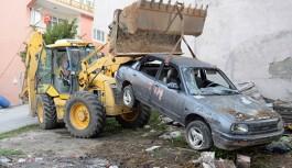 Gazipaşa'nın hurda araçları toplandı