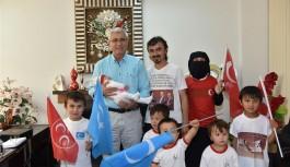 Türkistanlı aile Alanya'da