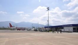 Yangın Gazipaşa havalimanına zarar verdi