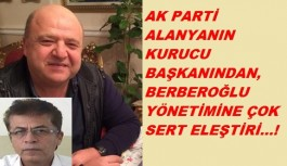 Berberoğlu'na bir eleştiri de kurucu başkandan geldi!