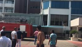 Alanya'daki otel odası tamamen yandı!