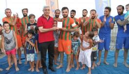 Plaj'da şampiyon Alanyaspor