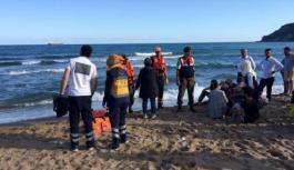 Alanya'da balık tutarken denize düştü