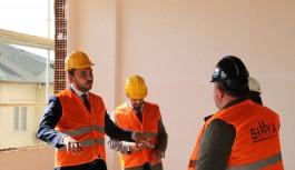 Alanya'nın yeni adliye sarayı inşaatında inceleme