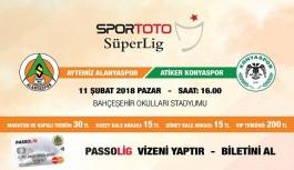 Alanyaspor-Konyaspor biletleri satışta