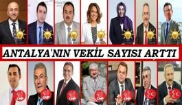 Anayasa değişikliği ile Antalya'nın vekil sayısı