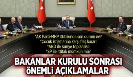 AKP ve MHP ittifakı ile ilgili açıklama