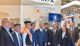 Alanya'nın tanıtım elçisi Bakan Çavuşoğlu, Moskova'da Alanya standında
