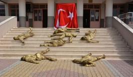 Gazipaşa'da öğrencilerin 18 Mart programı büyük ilgi gördü