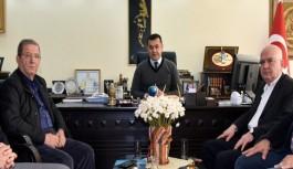 Kaptanoğlu ve Taç, Alanya belediye başkanını bilgilendirdi