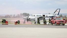 Olası uçak kazasına karşı tatbikat