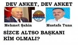 Sizce ALTSO Başkanı kim olmalı