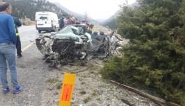 Akseki-Seydişehir yolunda feci kaza