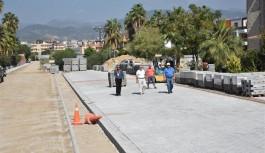 Alanya belediyesi şehre modern caddeler kazandırdı