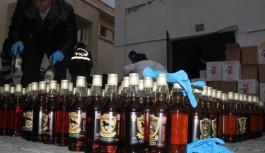 Alanya'da kaçak ve sahte içkiye 2 gözaltı