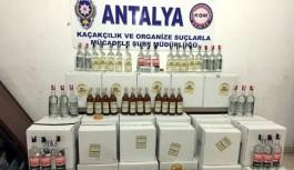 Antalya-Alanya karayolunda kaçak içki operasyonu